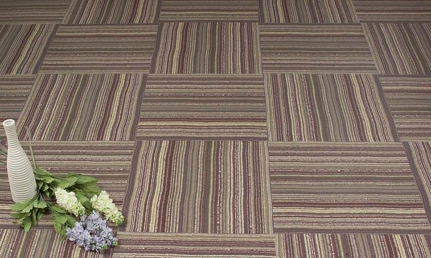 Dry Back SPC Floor with Carpet Design