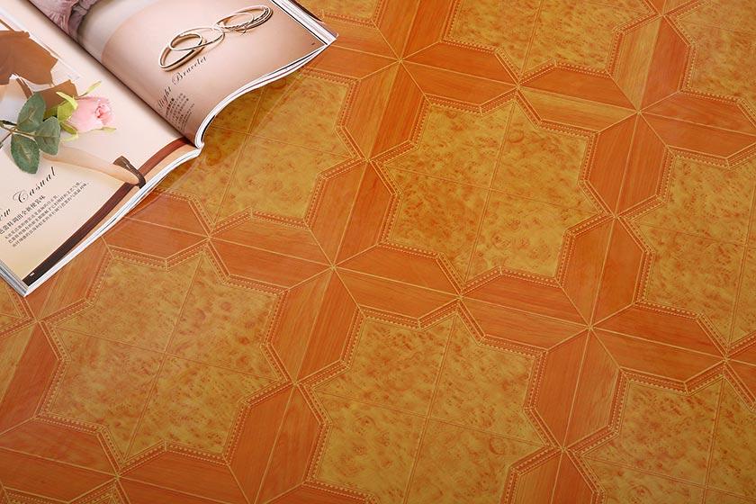 Red or White Felt-back Vinyl Flooring